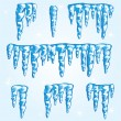 Icicles - Stock Vector