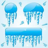 Frozen bannesr — Stock Vector