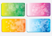 Set of colorful business cards — Vector de stock