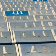 Numbered Seats — Stock Photo