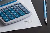 Budget Sheet — Stock Photo