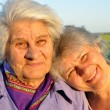 Two elderly women — Stock Photo