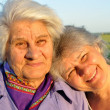 Stock Photo: Two elderly women