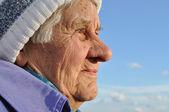 Portrait of an elderly woman, — Stock Photo
