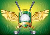 Bouclier de golf — Vecteur