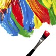 Color strokes oil paint brush art — Stock Photo