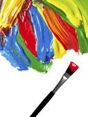 Color strokes oil paint brush art — Stock Photo