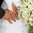 Hands of the newlyweds — Stock Photo #4273457