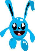 синий кролик — Cтоковый вектор