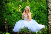 The bride in wood — Stock Photo