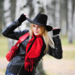 Royalty-Free Stock Photo: Girl in a black cowboy hat