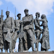Monument to defenders of blockade Leningrad — Stock Photo #4375080