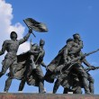 Monument to defenders of blockade Leningrad — Stock Photo