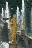 Fountains of Petergof, Saint Petersburg, Russia — Stock Photo