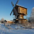 Beautiful winter windmill landscape — Stock Photo #4392359