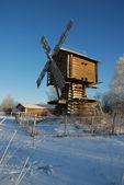 Beautiful winter windmill landscape — Stock Photo