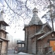 Russia, Moscow. The wooden church — Stock Photo