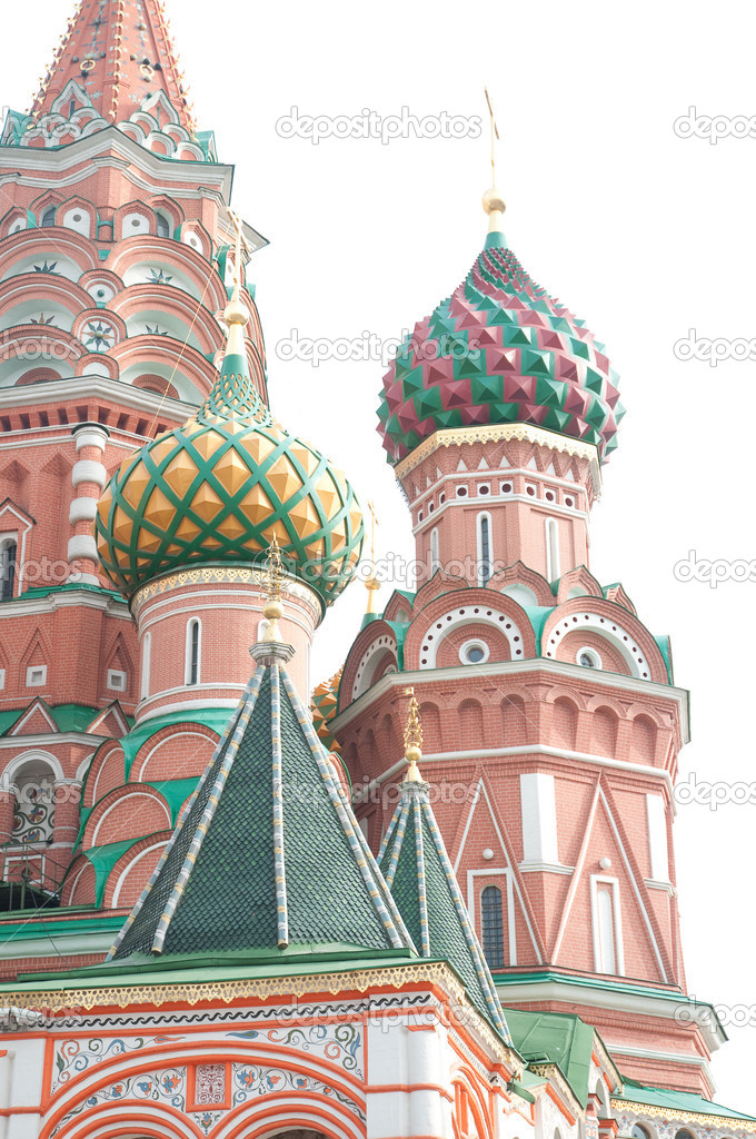 Famous St. Basil's Cathedral at Red Square in Moscow, Russia. — Stock Photo #4413799