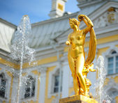 Ensemble of Grand Cascade in Petrodvorets — Stock Photo