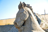 Sandy sculpture — Stock Photo