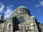 Naval cathedral in Kronstadt — Stock Photo
