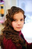 Portrait of the beautiful little — Stock Photo
