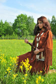 American Indian Girl — Stock Photo