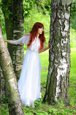 Young red-haired pretty woman — Stock Photo