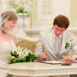 Stock Photo: Sign Wedding Register
