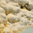 Calcium waterfalls Pamukkale Turkey - Stock Photo
