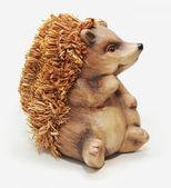Wooden hedgehog sculpture — Foto Stock