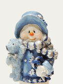 Snowman figurine — Stock Photo