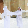 Two white angels — Stock Photo #4571258