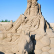 Royalty-Free Stock Photo: Sand sculpture of Poseidon