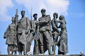 Monument to defenders of blockade Leningrad — Stock Photo