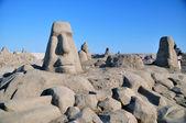 沙滩雕塑 — 图库照片