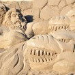 sand sculpture — Stock Photo