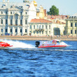 F1 Powerboat Racing. Races on boats on water area of Neva — Stock Photo