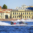 F1 Powerboat Racing. Races on boats on water area of Neva — Stock Photo #4912150