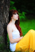 Beautiful young redhead girl — Stock Photo