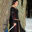 Girl in a medieval dress - Photo