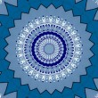 Oriental ornaments in blue tones seamless background — Stock Photo