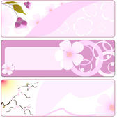 Spring flower banner with sakura. vector illustration — Stock Vector