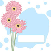Gerberas. Vector greeting card. — Stock Vector