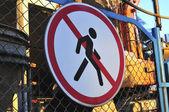 Prohibiting sign — Stock Photo