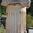 Ionic order capital at Delphi - Stock Photo