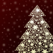 Royalty-Free Stock Photo: Snowflake christmas tree