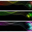 Set of abstract banners — Stock Photo