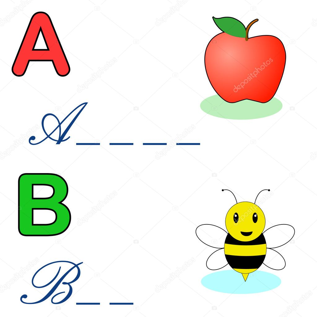 Alphabet word game with letter A and B — Stock Vector #5309514