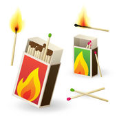 Matchboxes and matches — Stock Vector